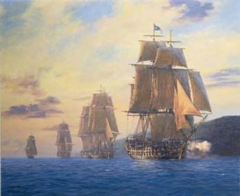 HMS Agamemnon-Nelson s first flagship leads the squadron, Mediterranean, 1796