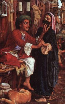 William Holman Hunt : The Lantern Makers Courtship