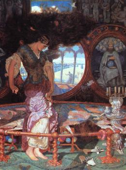 William Holman Hunt : The Lady of Shalott