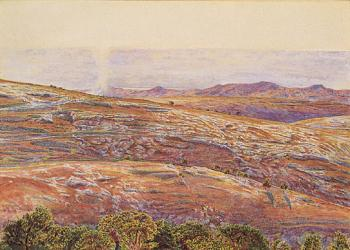 William Holman Hunt : The Dead Sea from Siloam