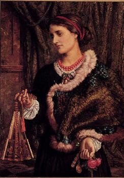 William Holman Hunt : The Birthday A Portrait Of The Artists Wife Edith