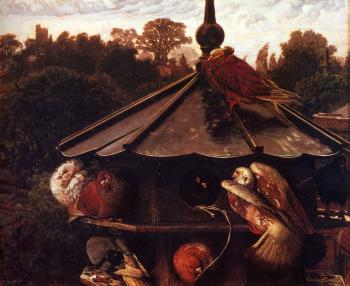 William Holman Hunt : The Festival Of St Swithin Or The Dovecote