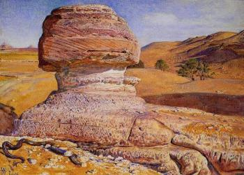 William Holman Hunt : The Sphinx Gizeh Looking towards the Pyramids of Sakhara
