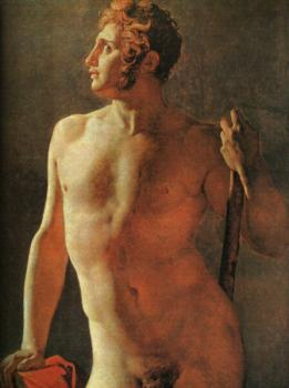 Jean Auguste Dominique Ingres : Male Torso