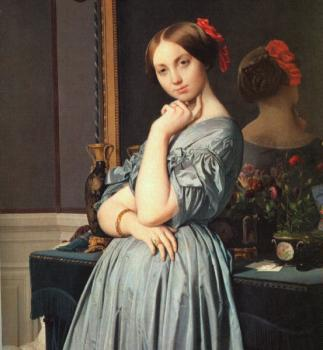 Jean Auguste Dominique Ingres : Vicomtess Othenin d'Haussonville, nee Louise-Albertine de Br