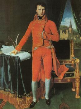 Jean Auguste Dominique Ingres : Bonaparte as First Consul