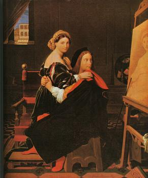 Jean Auguste Dominique Ingres : Raphael and the Fornarina