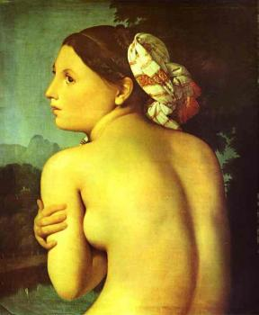 Jean Auguste Dominique Ingres : Half-figure of a Bather