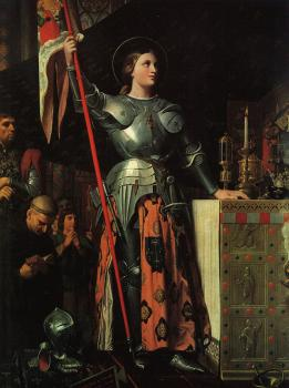 Jean Auguste Dominique Ingres : Joan of Arc on Corronation of Charles VII in the Cathedral of Reims