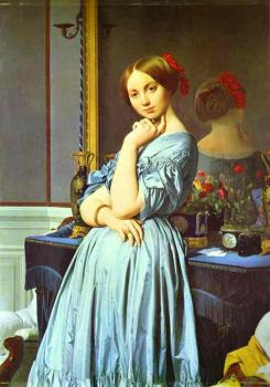 Jean Auguste Dominique Ingres : Vicomtess Othenin d'Haussonville, nee Louise-Albertine de Br II