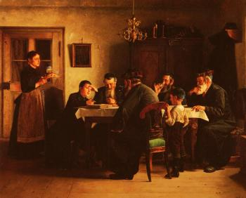 Isidor Kaufmann : Discussing The Talmud