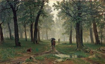 Ivan Shishkin : Rain in an Oak Forest