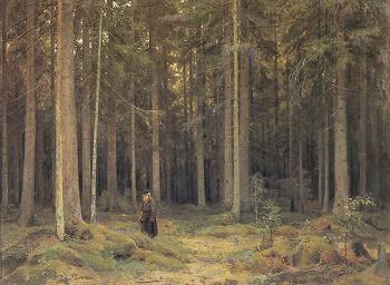 Ivan Shishkin : The Forest of Countess Mordvinova