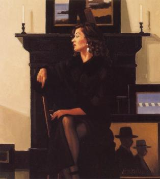 Jack Vettriano : Model In Black