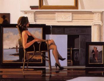 Jack Vettriano : The Model and the Drifter