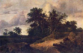 Jacob Van Ruisdael : Landscape With A House In The Grove