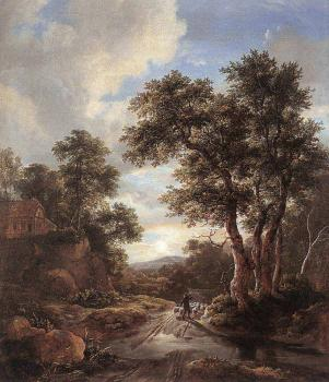 Jacob Van Ruisdael : Sunrise In A Wood