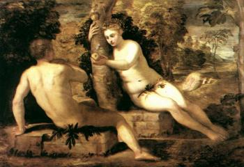Jacopo Robusti Tintoretto : Adam and Eve
