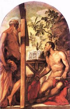 Jacopo Robusti Tintoretto : St Jerome and St Andrew
