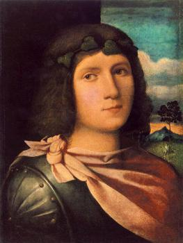 Il Vecchio Palma Jacopo : Portrait Of A Young Man