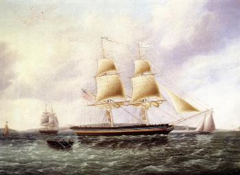 James E Buttersworth : American Brig off New York