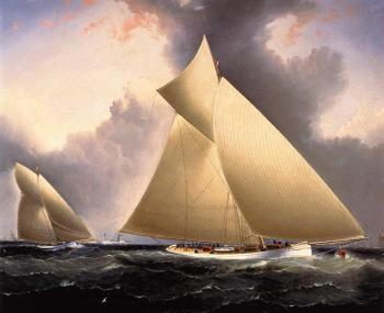 Mayflower Leading Galatea, America's Cup