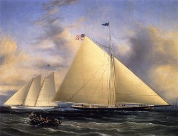 The Sloop Maria Racing the Schooner Yacht America