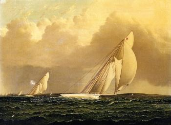 Yacht Race in New York Harbor
