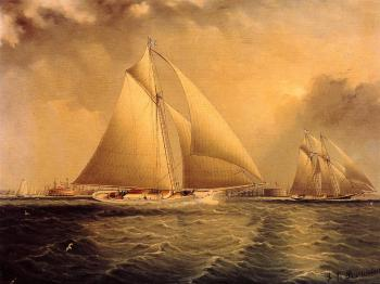 James E Buttersworth : Yachting in New York Harbor