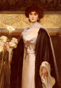 James Jebusa Shannon : White Lilies