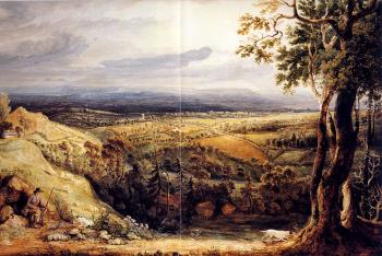James Ward : View In Somersetshire From Fitzhead The Seat Of Lord Somerville