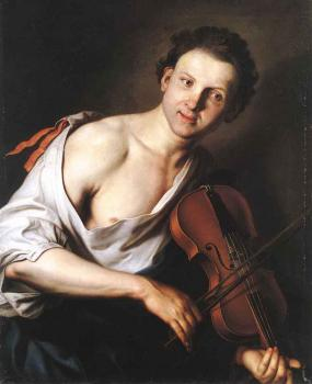 Jan Kupecky : Young Man With A Violin