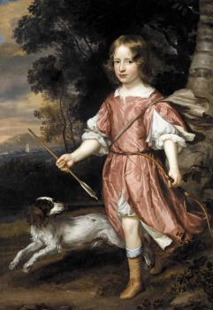 Portrait of the son of a nobleman as Cupid