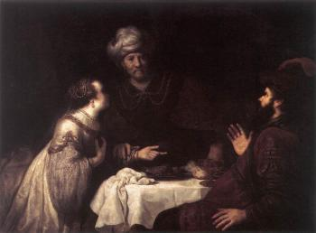 Esther And Haman Before Ahasuerus
