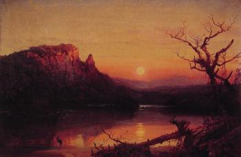 Jasper Francis Cropsey : Sunset Eagle Cliff