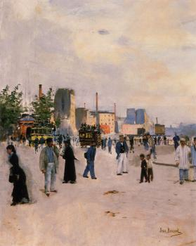 Jean Beraud : A Morning Stroll