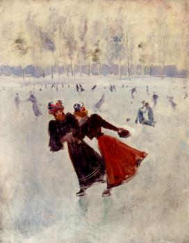 Jean Beraud : Women Skating