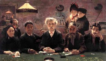 Jean Eugene Buland : The Gambling Den