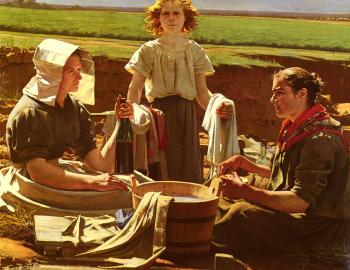 Jean Eugene Buland : The Washerwomen's Lunch