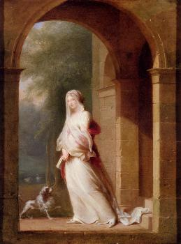 A Young Woman Standing In An Archway