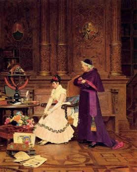 Jehan Georges Vibert : The Reprimand