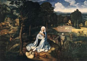 Joachim Patinir : Rest During The Flight To Egypt
