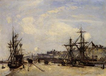 Johan Barthold Jongkind : Honfleur the Railroad Dock