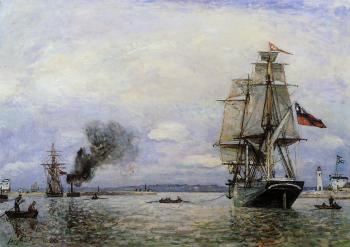 Johan Barthold Jongkind : Leaving the Port of Honfleur