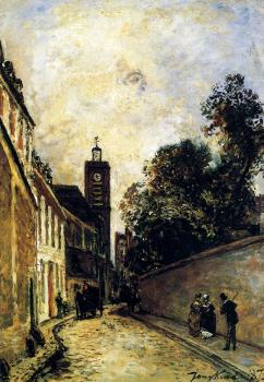 Johan Barthold Jongkind : Rue De L Abbe De L Epee And The Church Of Saint James
