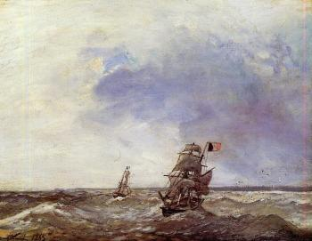Johan Barthold Jongkind : Ships at Sea