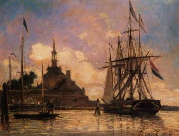 Johan Barthold Jongkind : The Port of Rotterdam