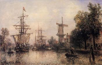Johan Barthold Jongkind : The Port of Rotterdam II
