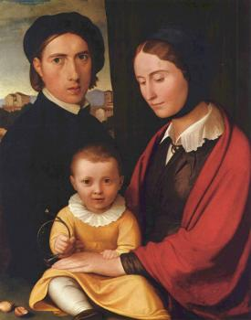 Johann Friedrich Overbeck : Self-portrait with family