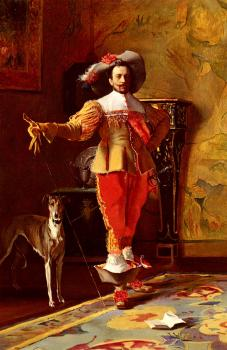 Johann Hamza : A cavalier And His Hound
